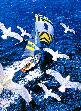 Vessel / Schiff mit Tauben / w. Pigeon