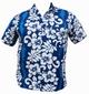 HAWAII HEMD CLASSIC FLOWER - HELLBLAU