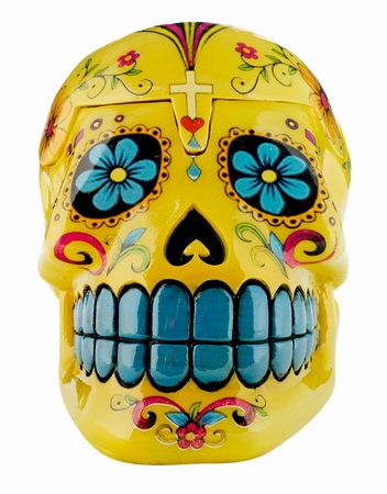CANDY SKULLS BOX YELLOW