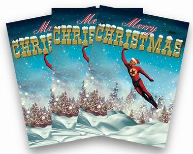 Weihnachtskarten Max Hernn Superhero Men