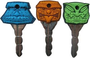 Keycovers - Schlüsselkappen Tiki Set