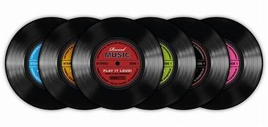 Schallplatten Untersetzer Record Music 6-teilig