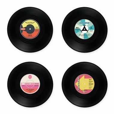 Untersetzer Schallplatte Retro Style Records 4er Set