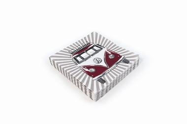 shopping m bel miniaturen vw bus samba stripes serviette. Black Bedroom Furniture Sets. Home Design Ideas