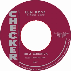 BILLY MIRANDA - Run Rose