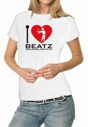 Bubble Beatz - I Love Beatz / Woman / Grösse S / Weiss