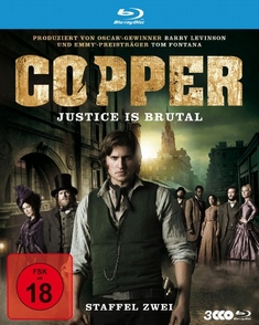 COPPER - JUSTICE IS BRUTAL/STAFFEL 2  [3 BRS] - Clark Johnson, Ken Girotti, Larysa Kondracki