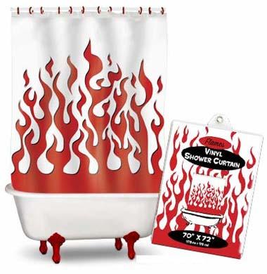 duschvorhang flammen transparent klang und kleid. Black Bedroom Furniture Sets. Home Design Ideas