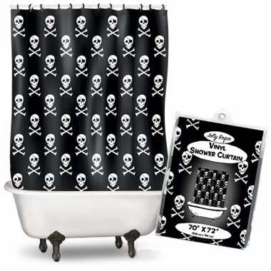 Duschvorhang totenkopf piraten klang und kleid - Coole duschvorha nge ...