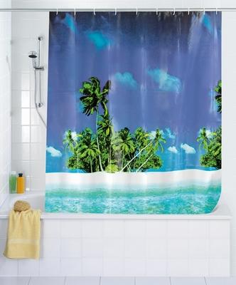 duschvorhang strand palmen s dsee klang und kleid interior duschvorh nge duschvorhang. Black Bedroom Furniture Sets. Home Design Ideas