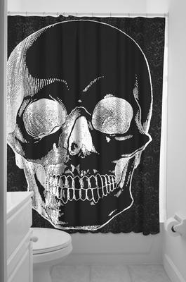 Duschvorhang skull anatomical klang und kleid interior - Schwarzer duschvorhang ...
