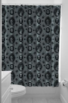 duschvorhang zombie cameo klang und kleid interior duschvorh nge duschvorhang zombie. Black Bedroom Furniture Sets. Home Design Ideas