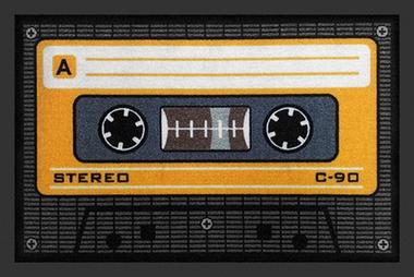 Tape Fussmatte Kassette orange - Türvorleger