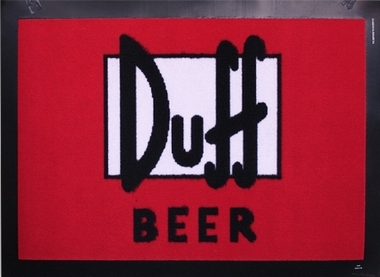 The Simpsons Fussmatte Duff Beer  - T�rvorleger