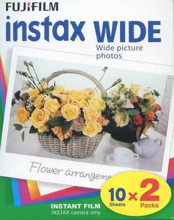 Doppelpack Fujifilm Instax Wide Color 10 Blatt Instant Film