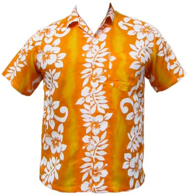 Hawaii Hemd - Classic Flower - gelb