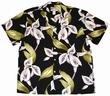 Original Hawaiihemd - Calla Lily - Schwarz - Paradise Found
