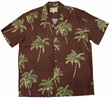 Original Hawaiihemd - Coconut Tree - Chocolate Brown - Paradise Found Modell: CoTrchocbrown