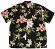 Original Hawaiihemd - Hibiscus Summer - Schwarz - Paradise Found
