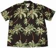 Original Hawaiihemd - Wailea Palms Schwarz - Waimea Casual Modell: WCWPA-Black