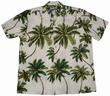 Original Hawaiihemd - Wailea Palms Weiss - Waimea Casual Modell: WCWPA-White