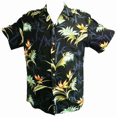 Original Hawaiihemd - Bamboo Paradise - schwarz - Paradise Found