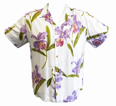 Original Hawaiihemd - Double Orchid - Weiss - Paradise Found