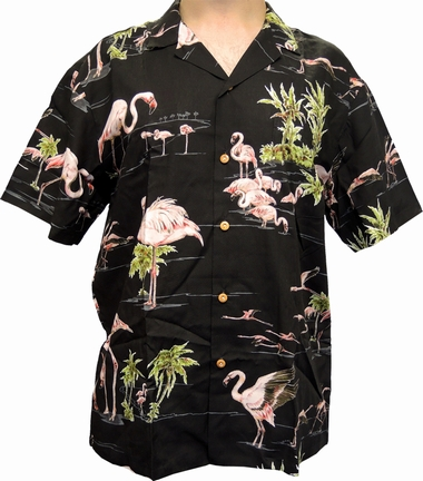 hawaii hemd flamingo