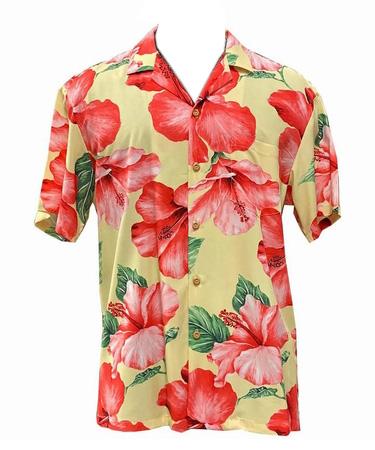 Original Hawaiihemd - Hibiscus Blossom - Yellow - Paradise Found