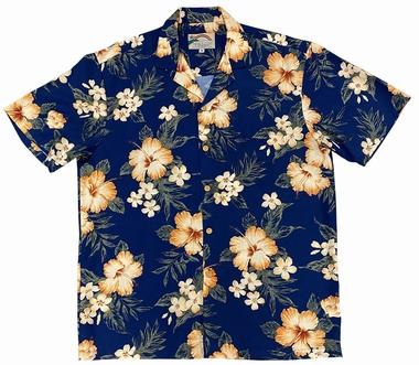 Original Hawaiihemd - Hibiscus Garden - Navy - Paradise Found