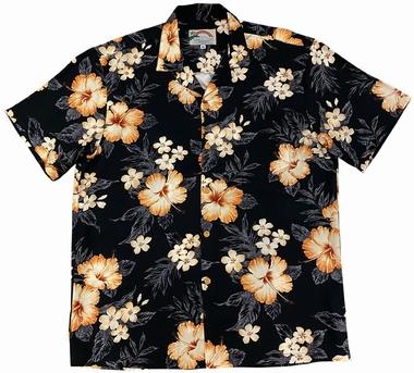 Original Hawaiihemd - Hibiscus Garden - Schwarz - Paradise Found