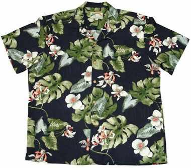 Original Hawaiihemd - Monstera Orchid Navy - Paradise Found