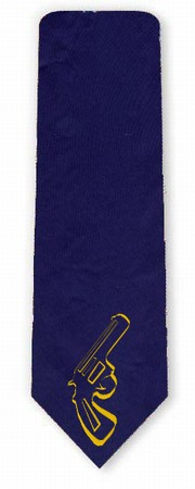 Krawatte Revolver - blau