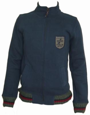 Lambretta Knitwear Trim Badged Funnel navy - Cardigan
