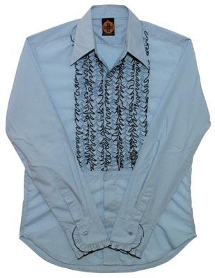 Rüschenhemd - hellblau
