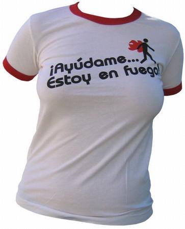 VintageVantage - Fuego girlie shirt