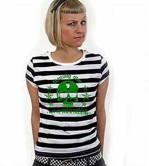 Sold my soul to Rock n Roll Girl Shirt gestreift