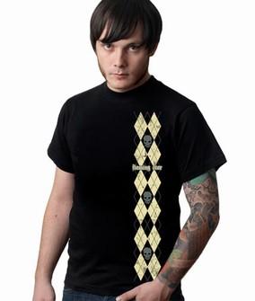 Scratched Argyle Shirt schwarz