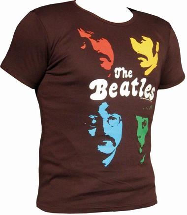 Logoshirt - THE BEATLES Shirt - Faces - Braun