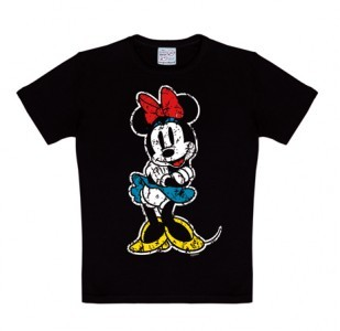 Logoshirt - Minnie Mouse Shirt Classic - Black