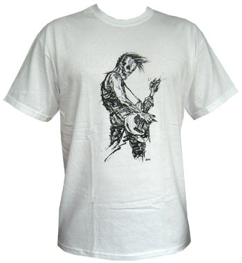Bassist - White - Men Shirt