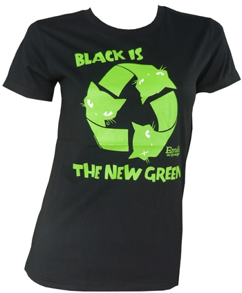 Emily The Strange -  Black Is The New Green Shirt