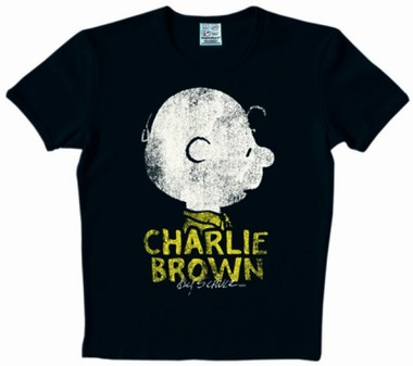 Logoshirt - Peanuts - Charlie Brown Shirt & Name - Black