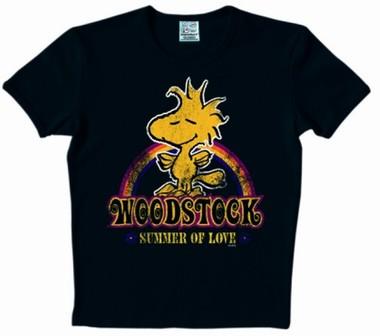 Logoshirt - Peanuts - Woodstock Summer of Love Shirt - Black