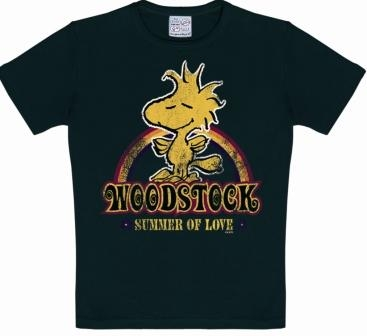 Kids-Shirt - Peanuts - Woodstock - Schwarz