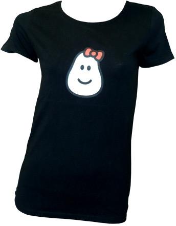 Amos - Hello Potato - Black - Girl Shirt