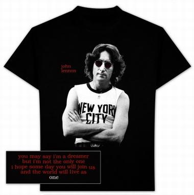 John Lennon - Shirt - New York Photo