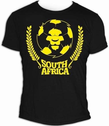 Lion - Men Shirt Schwarz - Fussball Südafrika