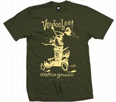Exotica Groovin Hot Rod -Men Shirt - olive