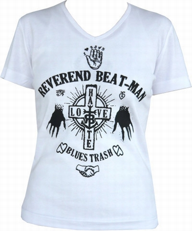 Beat-Man - Hands - Girl-Shirt weiss
